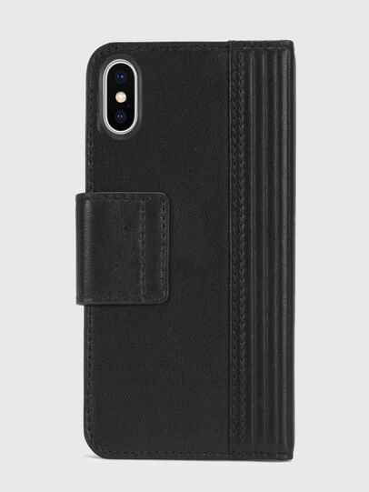 Diesel - BLACK LINED LEATHER IPHONE X FOLIO,  - Fundas tipo libro - Image 5