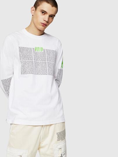 Diesel - T-JUST-LS-NEW, Blanco - Camisetas - Image 1