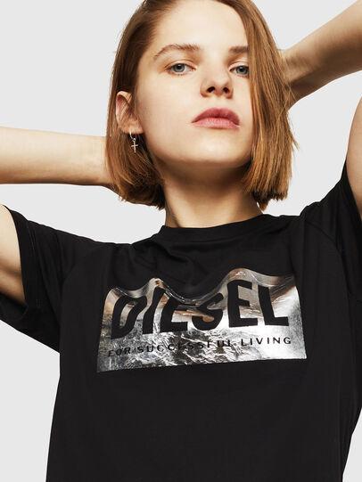 Diesel - T-FOIL, Negro - Camisetas - Image 3