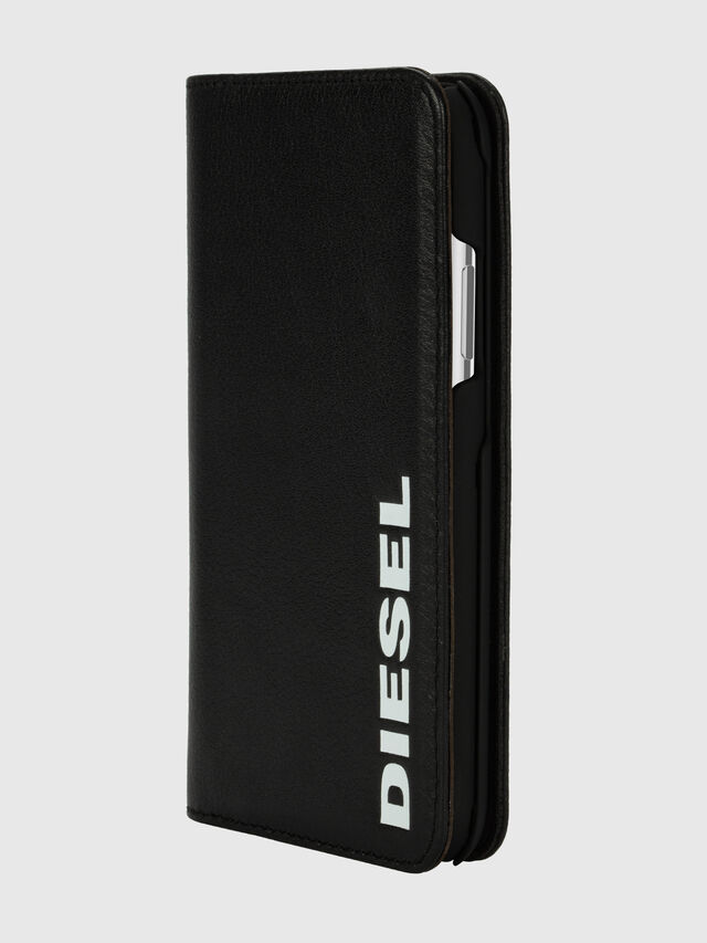 Diesel - DIESEL 2-IN-1 FOLIO CASE FOR IPHONE XS & IPHONE X, Negro/Blanco - Fundas tipo libro - Image 3