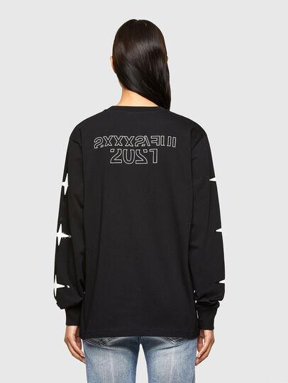 Diesel - CL-T-JUST-LS-O, Negro - Camisetas - Image 4