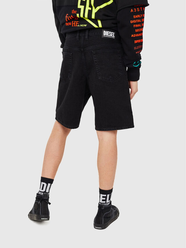 Diesel - D-WILLOH, Negro/Gris oscuro - Shorts - Image 2