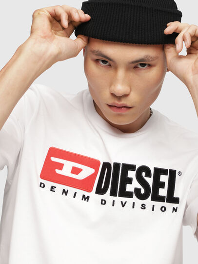 Diesel - T-JUST-DIVISION, Blanco - Camisetas - Image 3