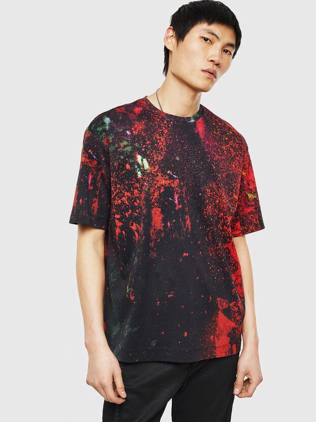 TEORIALE-D, Negro/ Rojo - Camisetas