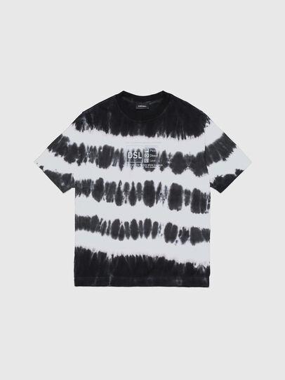 Diesel - TJUSTA38 OVER, Negro/Blanco - Camisetas y Tops - Image 1