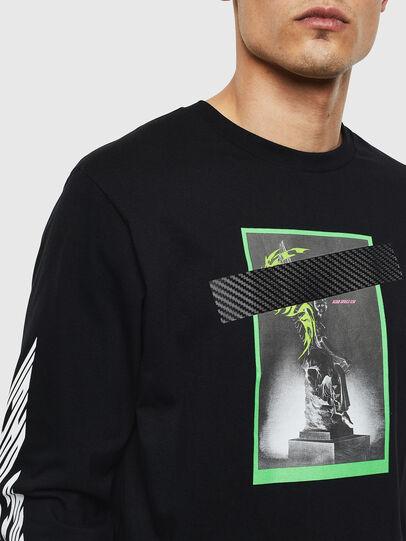 Diesel - T-JUST-LS-T13, Negro - Camisetas - Image 3