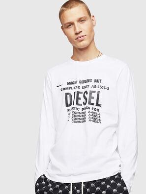 T-DIEGO-B6-LONG, Blanco - Camisetas