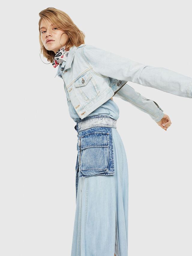 Diesel - DE-ZAUPY, Blue Jeans - Chaquetas de denim - Image 4