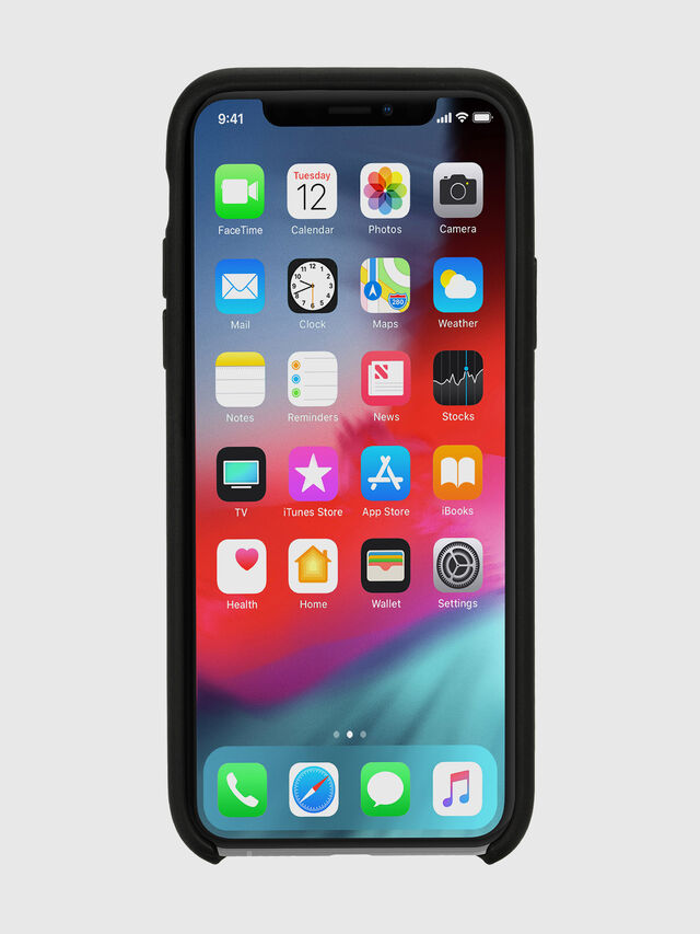Diesel - DIESEL LEATHER CO-MOLD CASE FOR IPHONE XS MAX, Negro - Fundas - Image 4