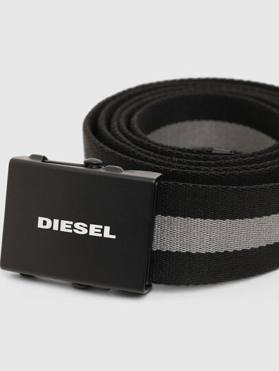 Diesel - B-PLATA, Negro/Gris - Cinturones - Image 2