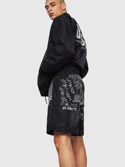 Diesel - P-KUMI-PRINT-A, Negro - Shorts - Image 4