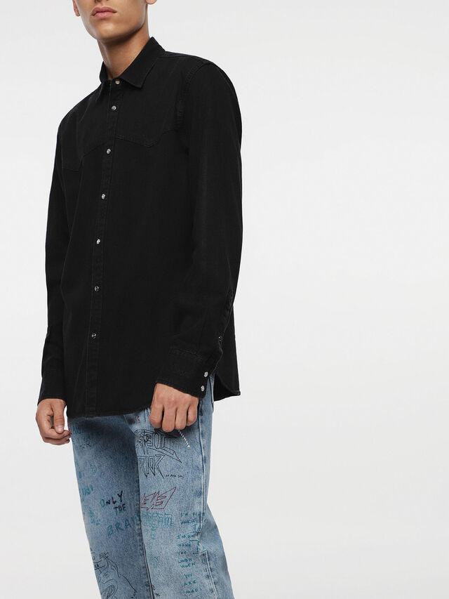 Diesel - D-PLANET, Black Jeans - Camisas de Denim - Image 4