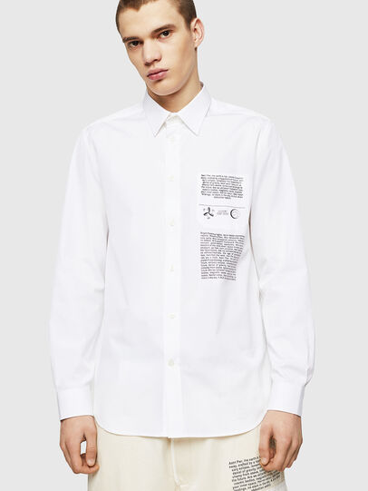 Diesel - S-VEN-PRINT, Blanco - Camisas - Image 3