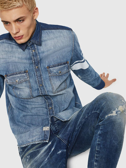 Diesel - D-MILLER, Blue Jeans - Camisas de Denim - Image 4