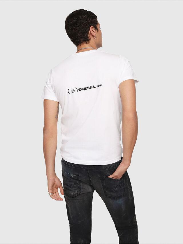 Diesel - CL-T-GADIE, Blanco - Camisetas - Image 3