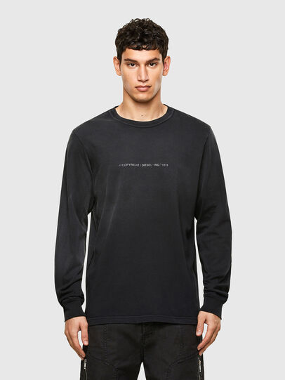 Diesel - T-JUBIND-LS, Negro - Camisetas - Image 1