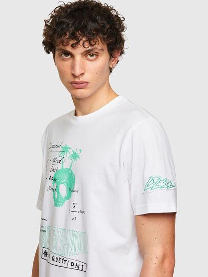 Diesel - T-JUST-B61, Blanco - Camisetas - Image 5