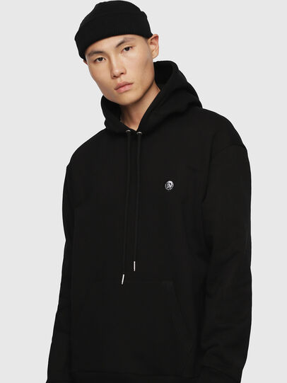 Diesel - S-AFTER, Negro - Sudaderas - Image 1