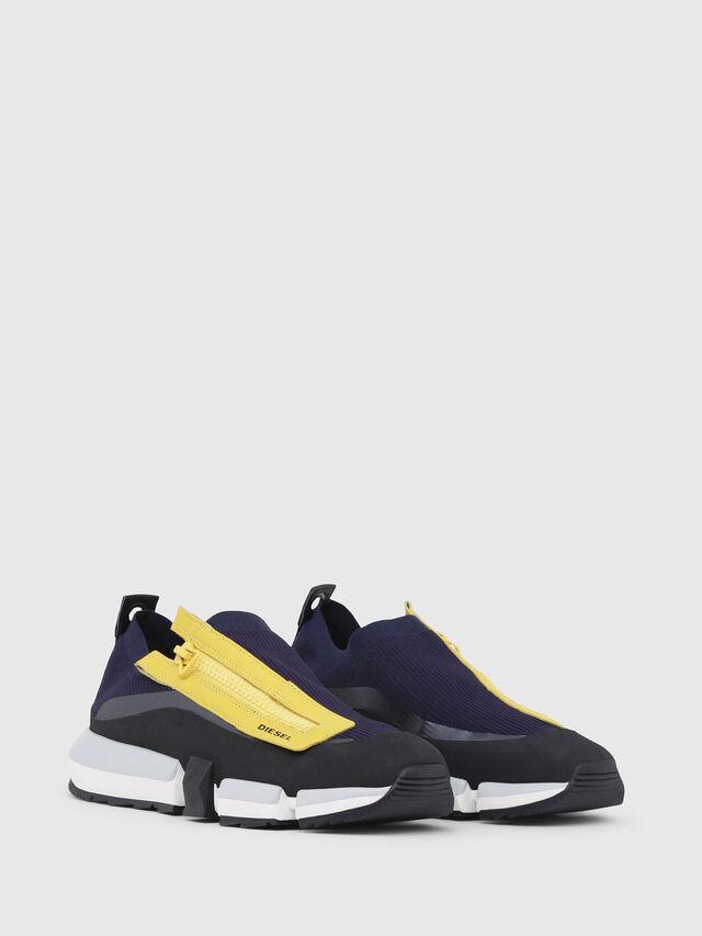 Diesel - H-PADOLA LOW ZIP, Azul/Amarillo - Sneakers - Image 2