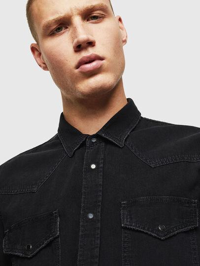 Diesel - D-EAST-P, Negro - Camisas de Denim - Image 3