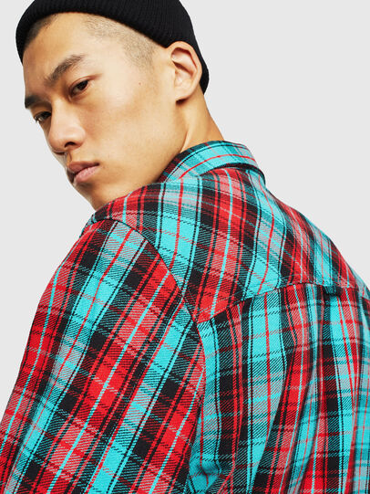 Diesel - S-GERRY-CHECK, Rojo - Camisas - Image 5