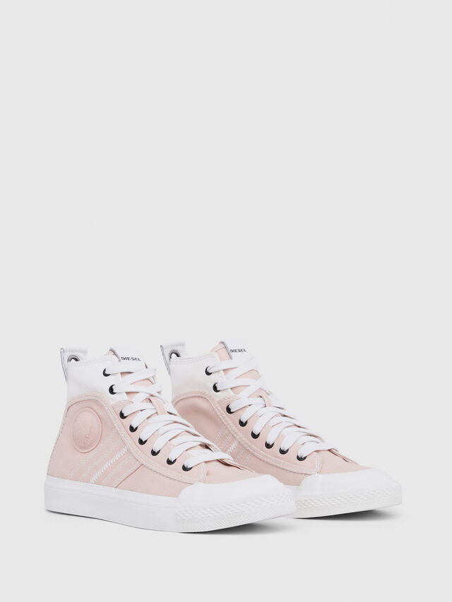 Diesel - S-ASTICO MID LACE W, Rosa/Blanco - Sneakers - Image 2