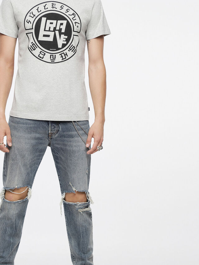 Diesel - T-DIEGO-XC, Mélange Ligero - Camisetas - Image 3