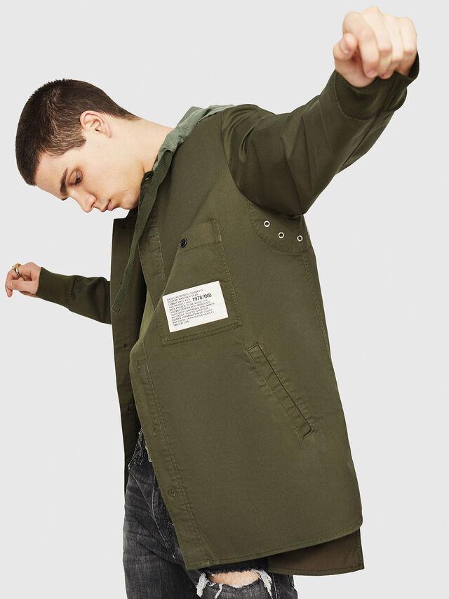 Diesel - S-EIKU, Verde Militar - Camisas - Image 4