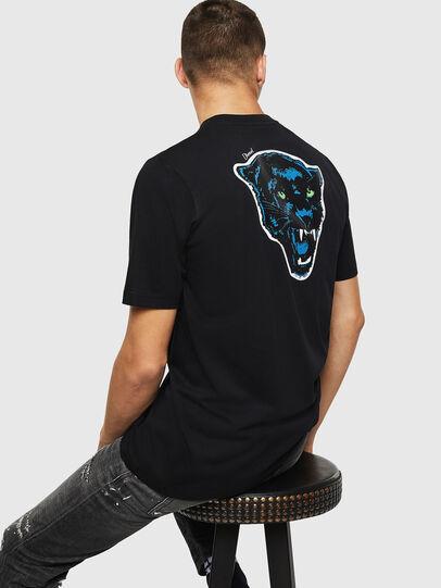 Diesel - T-JUST-B12, Negro - Camisetas - Image 4