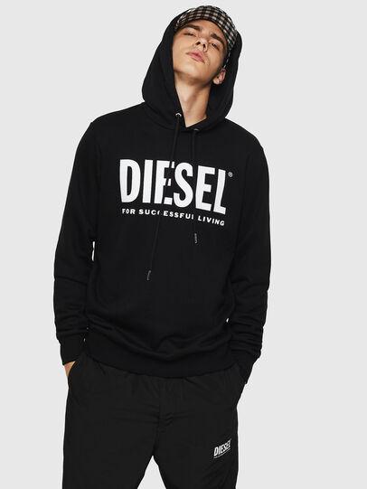 Diesel - S-GIR-HOOD-DIVISION-, Negro - Sudaderas - Image 1