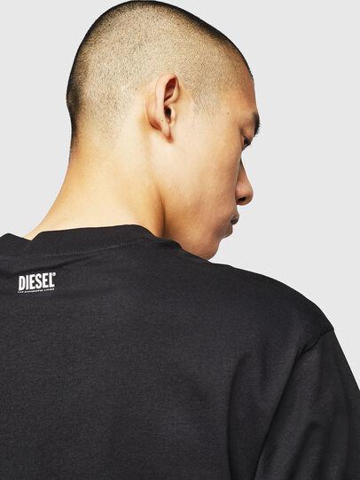 Diesel - T-LUCAS-NML-B1, Negro - Camisetas - Image 4