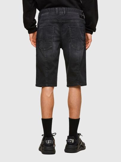 Diesel - D-KROOSHORT JOGGJEANS, Negro - Shorts - Image 2