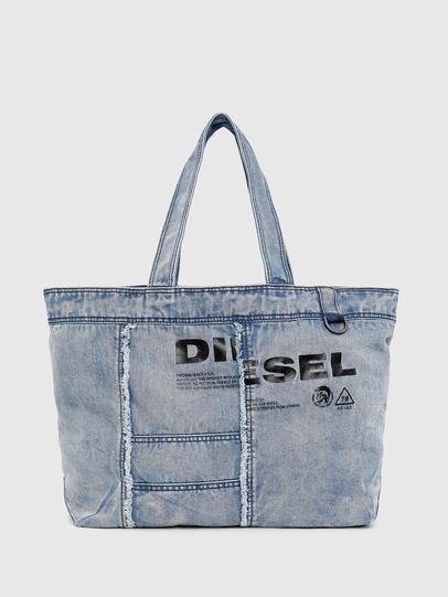 Diesel - D-THISBAG SHOPPER L, Azul Claro - Bolsos Shopper y Al Hombro - Image 1