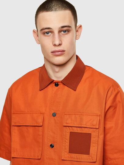 Diesel - S-GUNN, Naranja - Camisas - Image 3