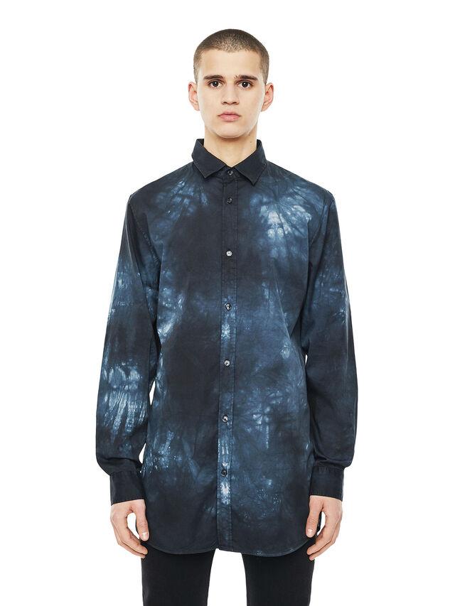 Diesel - SAMOUT, Negro/Azul - Camisas - Image 1