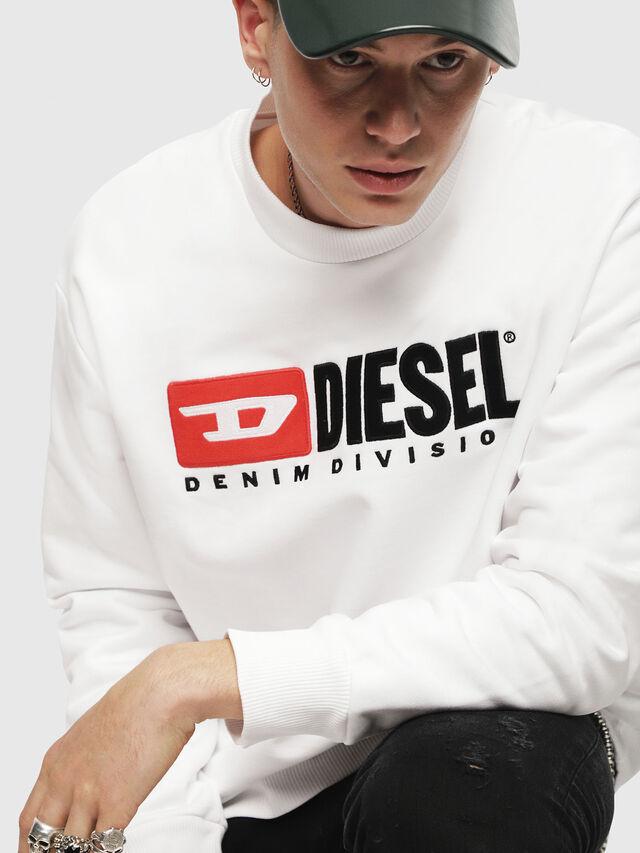 Diesel - S-CREW-DIVISION, Blanco - Sudaderas - Image 3