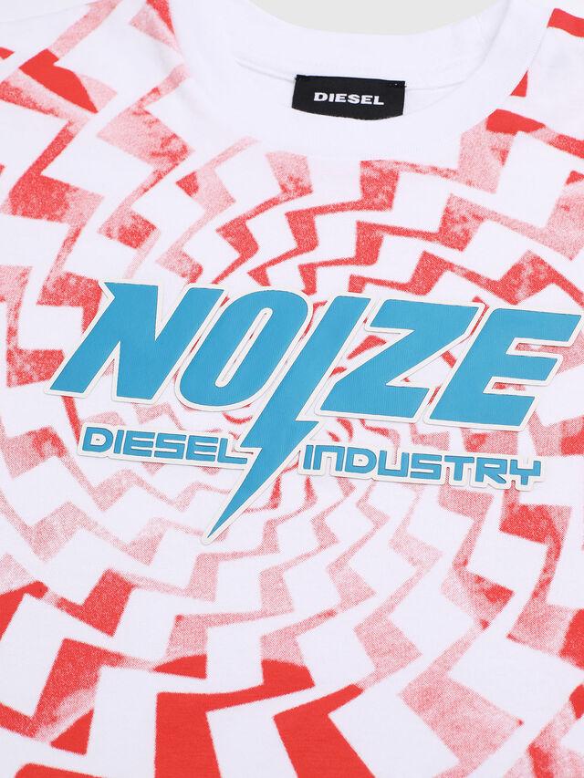 Diesel - TRUCCIB-R, Blanco/Rojo - Camisetas y Tops - Image 3