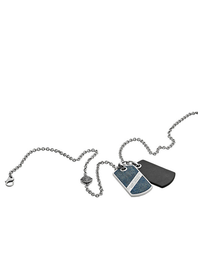Diesel - NECKLACE DX1031, Blue Jeans - Collares - Image 2