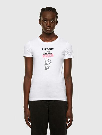 Diesel - T-SOAL-R1, Blanco - Camisetas - Image 1