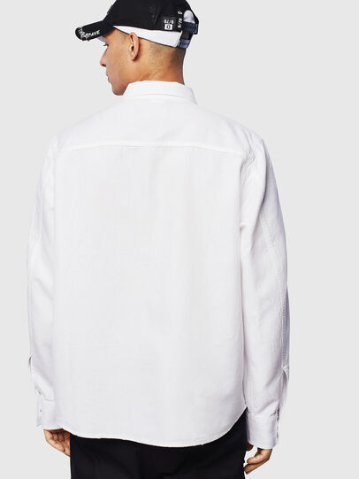 Diesel - D-FLOX, Blanco - Camisas de Denim - Image 2