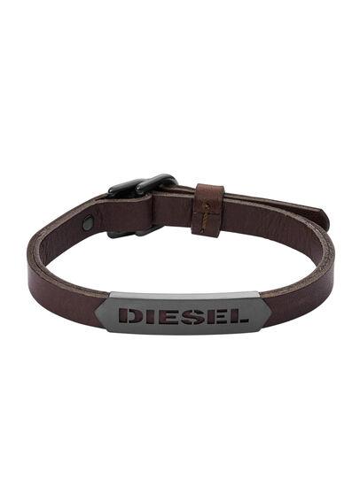Diesel - BRACELET DX1000, Marrón - Pulseras - Image 1