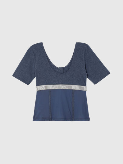 Diesel - UFTEE-TOPCUT-DN, Azul - Camisetas - Image 2