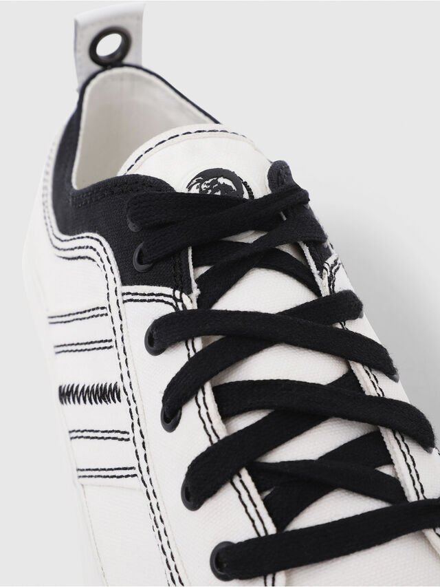 Diesel - S-ASTICO LOW LACE, Blanco/Negro - Sneakers - Image 5