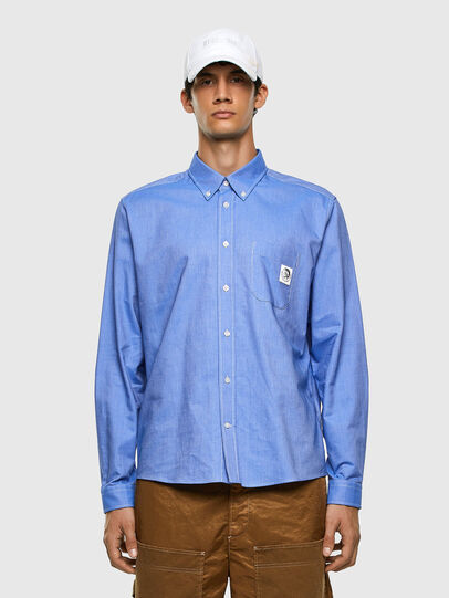 Diesel - S-JAMES, Azul - Camisas - Image 4