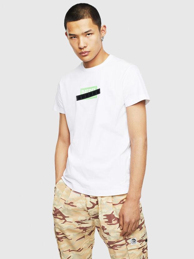 T-DIEGO-S7, Blanco/Verde - Camisetas