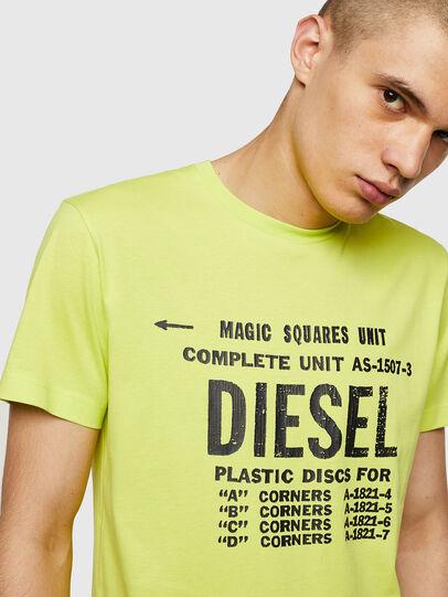 Diesel - T-DIEGO-B6, Amarillo Fluo - Camisetas - Image 3