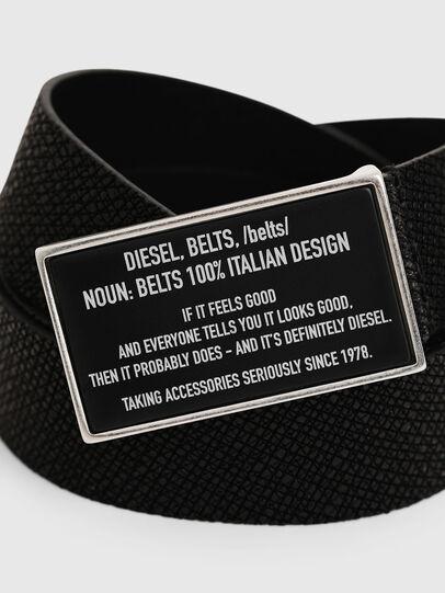 Diesel - B-LAZISE, Negro - Cinturones - Image 2