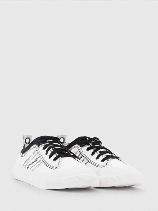 Diesel - S-ASTICO LOW LACE, Blanco/Negro - Sneakers - Image 2