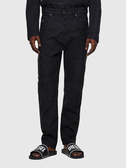 Diesel - D-VIDER JoggJeans® 0DDAX, Negro/Gris oscuro - Vaqueros - Image 1
