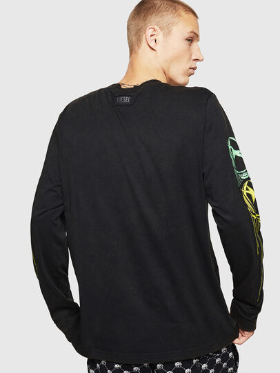 Diesel - T-JUST-LS-B5, Negro - Camisetas - Image 2